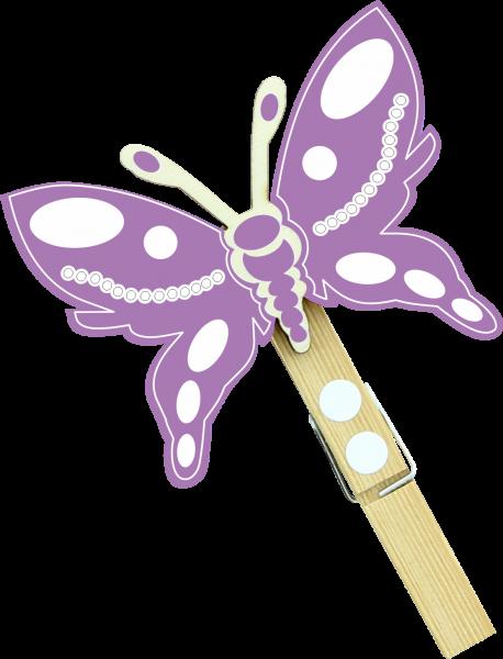 Holzfigur Schmetterling Louna