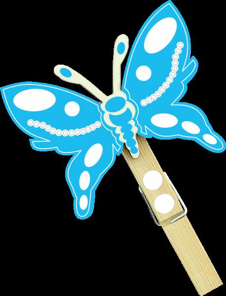 Holzfigur Schmetterling Lucas - hellblau