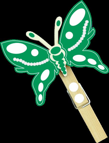 Holzfigur Schmetterling Jules - dunkelblau