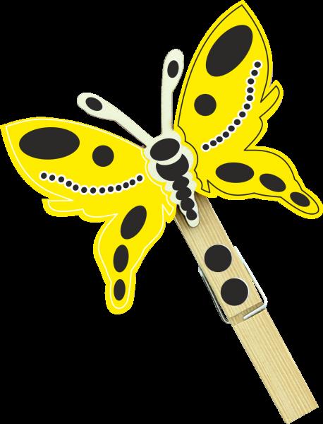 Holzfigur Schmetterling Lemon