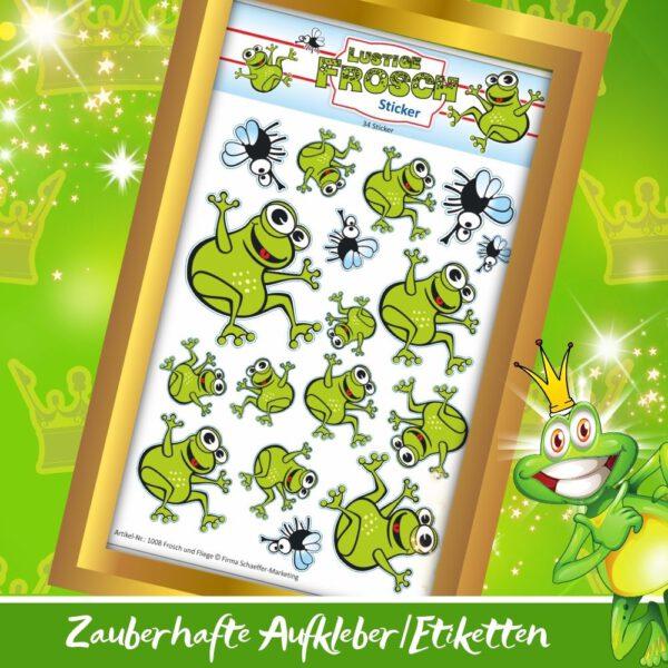 Etiketten selbstklebend - Sticker Frosch