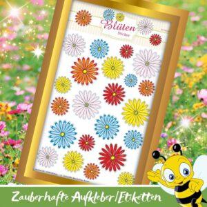 Selbstklebende Aufkleber - Sticker Blüten