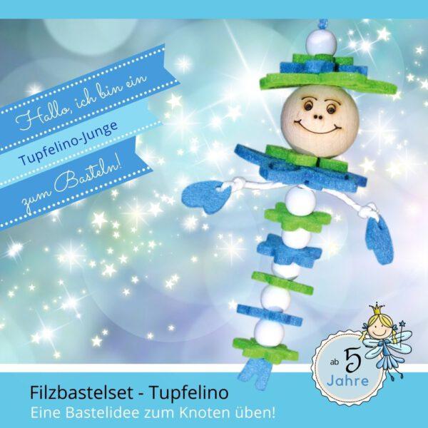 Basteln mit Filz - Filzbastelset Tupfelino Junge blau