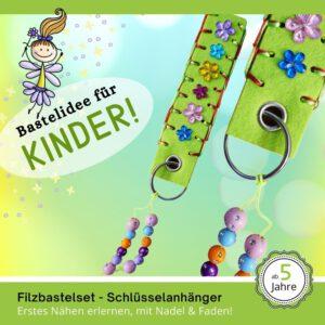 Kreativset Kinder - Filz-Schlüsselanhänger grün