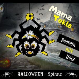 Einfache Bastelidee - Holzfigur Spinne Mama Tekla