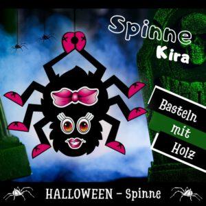 Spinne malen - Holzfigur Spinne Kira
