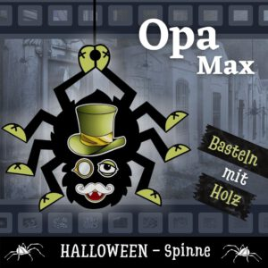 Spinnen malen - Holzfigur Spinne Opa Max