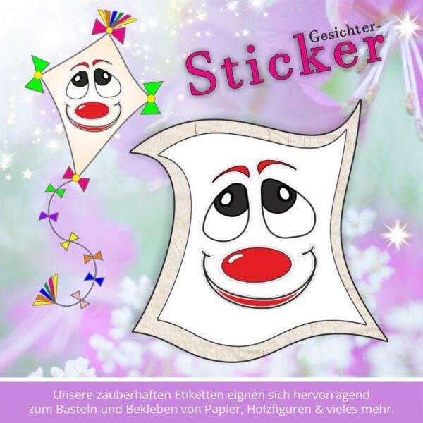 Aufkleber Kindergarten ♥ Sticker-Gesicht Freude