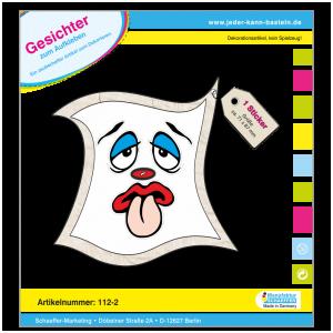 Sticker-Gesichter-mit Zunge groß
