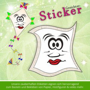 Klebeetiketten Kinder Schule ♥ Sticker-Gesicht dämlich