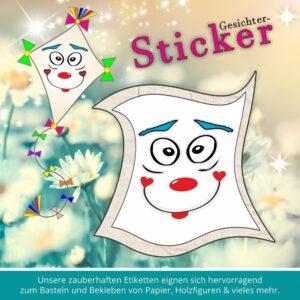 Klebeetiketten Kindergarten Set ♥ Sticker-Gesicht kichern