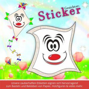 Scrapbook Aufkleber ♥ Sticker-Gesichter erstaunt