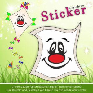 Scrapbooking Aufkleber ♥ Sticker-Gesicht Trottel