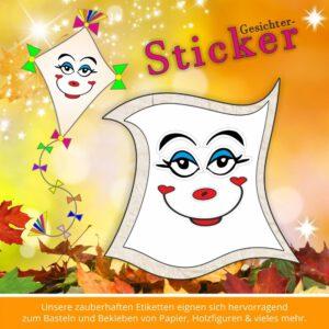 Scrapbooking Sticker ♥ Gesichter strahlen