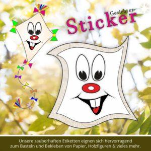 Stickers für Kinder ♥ Gesicht mit Zähnen