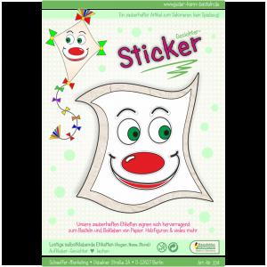 Sticker Gesichter lachen