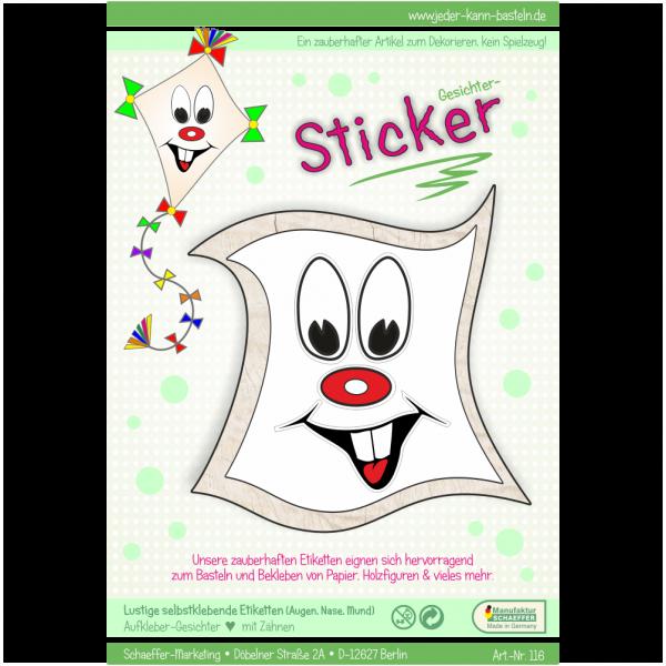 Sticker Gesichter mit Zähnen