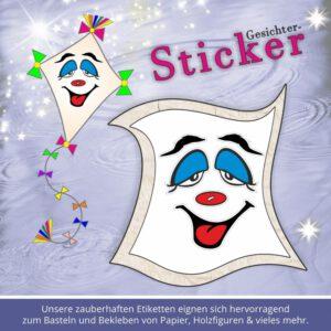 face cartoon sticker ♥ Sticker-Gesicht hängende Augen