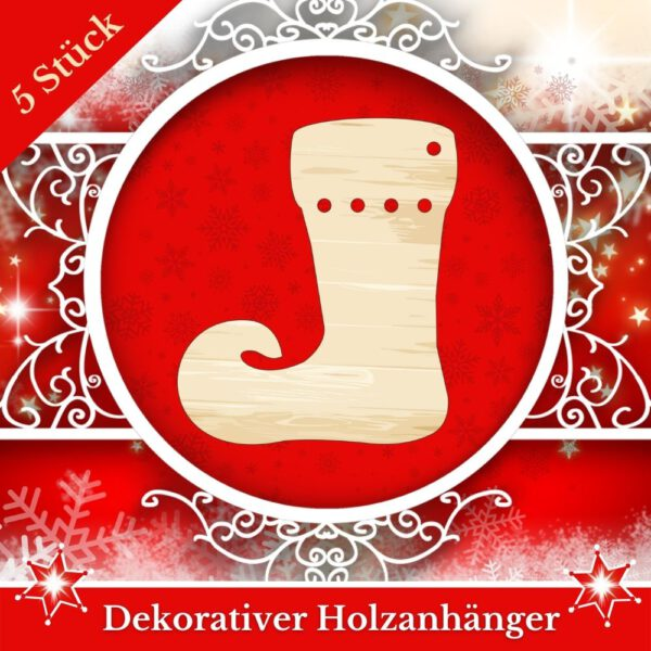 Baumschmuck Holz - Nikolausstiefel
