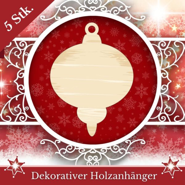 Weihnachtskugeln malen - Baumschmuck kugeliger Zapfen