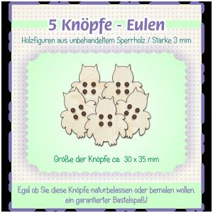 Eulen - Knöpfe