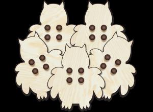Eulen-Knöpfe