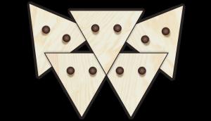 Holzknöpfe Dreiecke