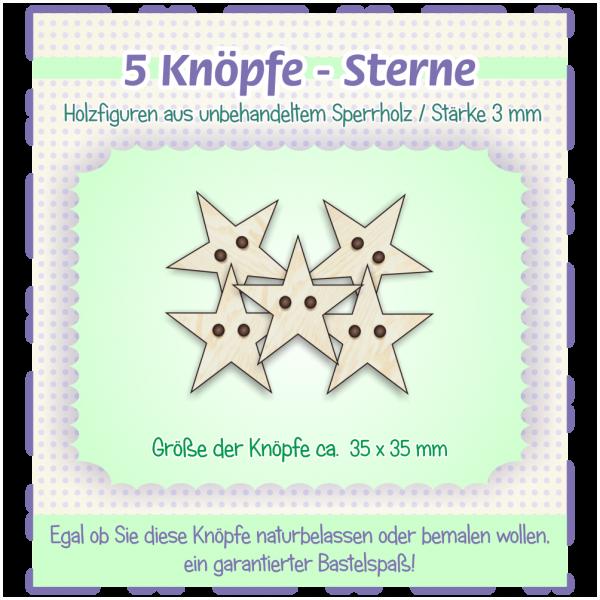 Sterne - Knöpfe