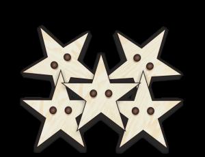 Sterne-Knöpfe