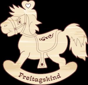 """Geschenkanhänger Schaukelpferd """"Freitagskind"""""""