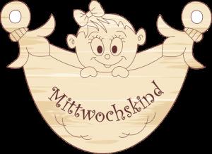 """Geschenkanhänger Windel """"Mittwochskind-Mädchen"""""""