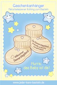 "Geschenkanhänger Babyschuhe ""Donnerstagskind"""