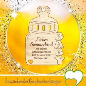 Baby Geschenke DIY - Geschenkanhänger _Liebes Sommerkind_