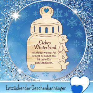 DIY Baby Geschenke - Geschenkanhänger _Liebes Winterkind_