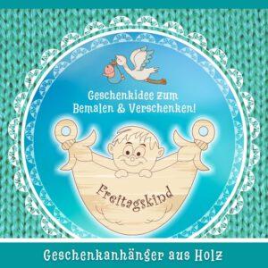 Geschenk für Neugeborene Junge - Geschenkanhänger Freitagskind