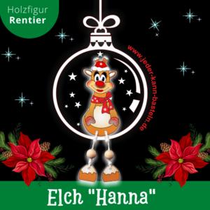 Holzfigur Elch Hanna